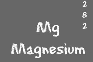 Magnesium Mg element on chalkboard