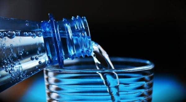 water from bottle