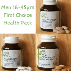 Wise Owl Health - Men 18-45yrs Supplement Pack