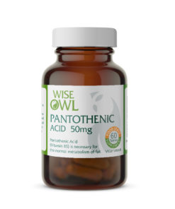 Pantothenic Acid (Vitamin B5) – 50mg