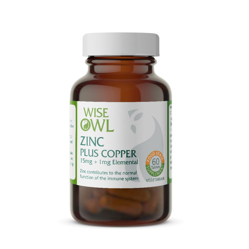 Zinc & Copper – 15mg + 1mg